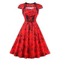 Sisjuly 1950s Vintage Dresses Autumn Female Patchwork Red Lace Up Elegant Party Dress Retro Square Neck