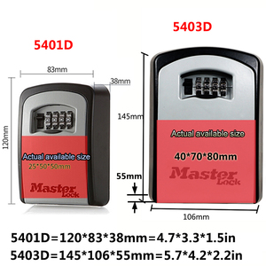 Image 4 - Master Lock กุญแจรถปลอดภัยกล่อง Wall Mount รหัสผ่านล็อคโลหะโรงรถโรงรถกลางแจ้งกล่องเก็บความปลอดภัยตู้นิรภัย