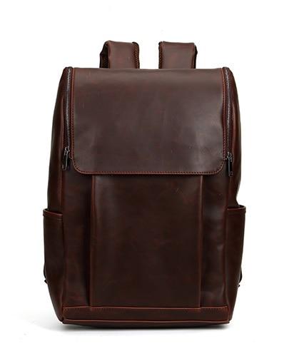 Jonon Vintage Backpack PU Leather Crazy Horse Men Travel Backpacks Bag For College School Backpacks for 15,17 inches Laptop Bag high quality england vintage style genuine leather men backpacks for college school backpacks for 14 inch laptop bags 9024