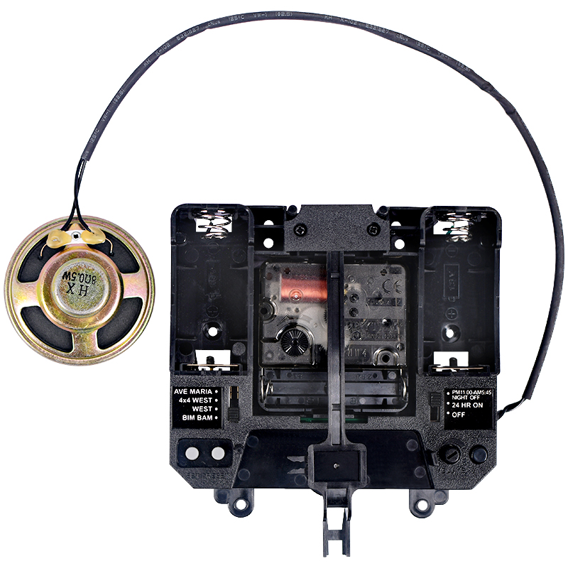 Ritmo silencio movimiento música campana de plástico de la caja de mecanismo de cuarzo manos péndulo unidades DIY reloj de Bluetooth