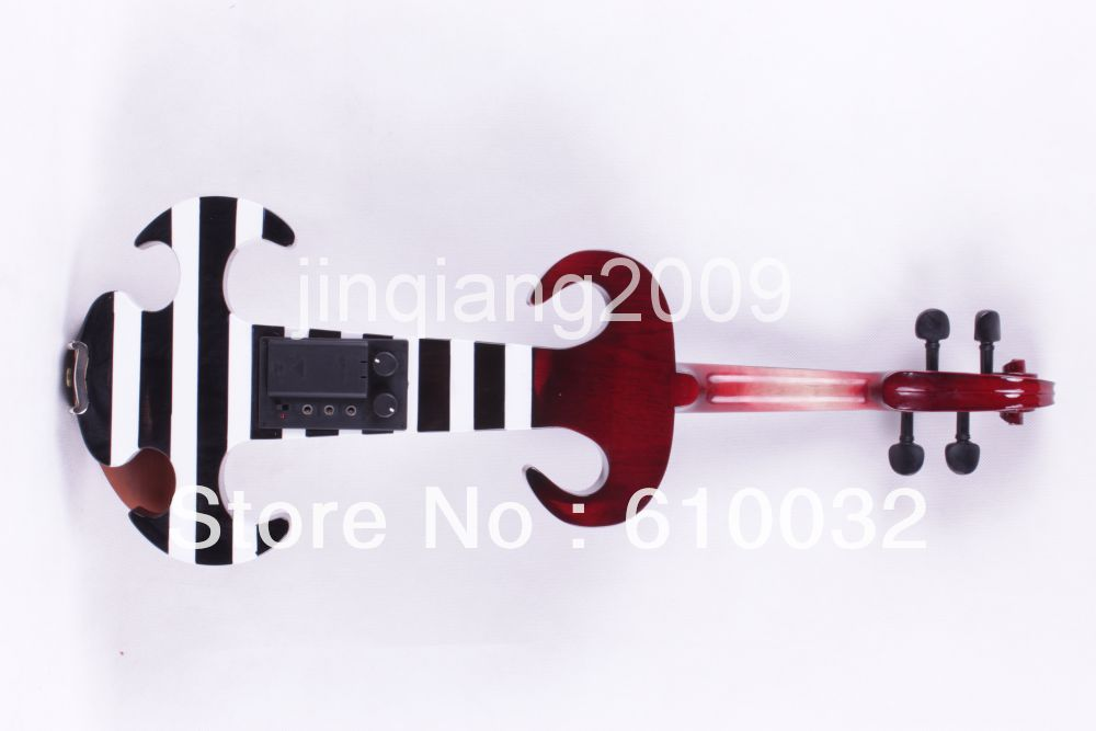 4/4 red white   black 4 string Electric violin High quality 4