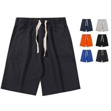 280g Cotton Shorts Casual Shorts Men 2019 Summer Newest Solid color Beach Shorts Men's Short Pant Large size Sweatpants 6 colors