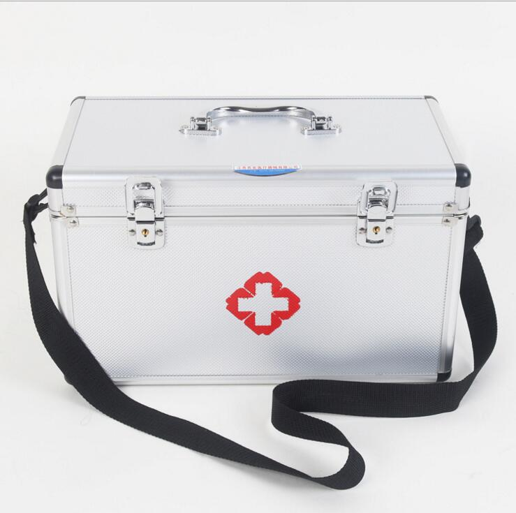 TXJ21---Aluminum alloy medical box, multi-layer medical first aid kit, drug storage and portability. new gbj free shipping home aluminum medical cabinet multi layer medical treatment first aid kit medicine storage portable