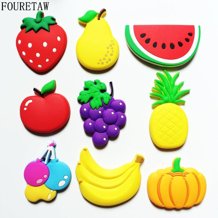 1 Piece Cartoon Kids Kawaii Fruits Banana Strawberry