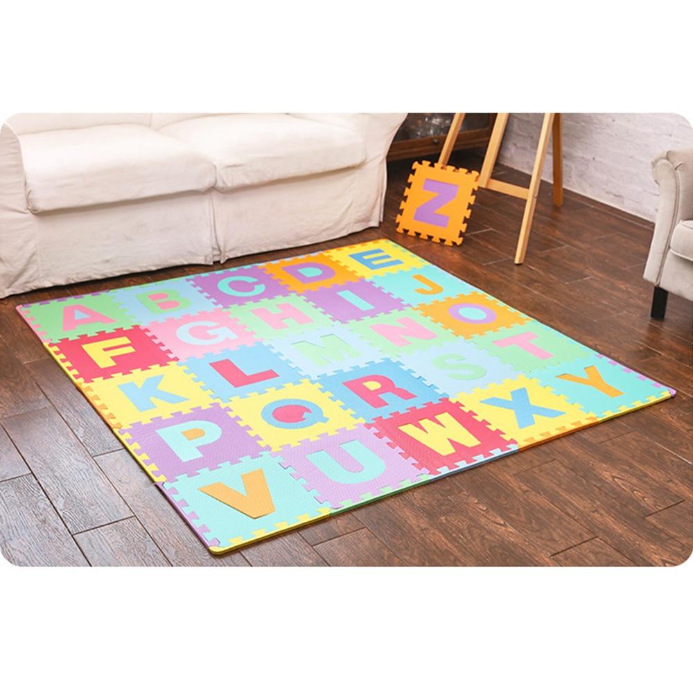 26 pièces lettres enfants jouets Puzzle tapis bébé jouets enfants tapis jouets pour enfants tapis en développement tapis bébé tapis de jeu tapis de jeu en mousse