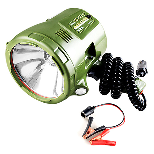 JUJINGYANG Marine Searchlight,HID spotlight,12v xenon lamp,portable Spotlight for car,hunting,camping,boat,SIZE:55W