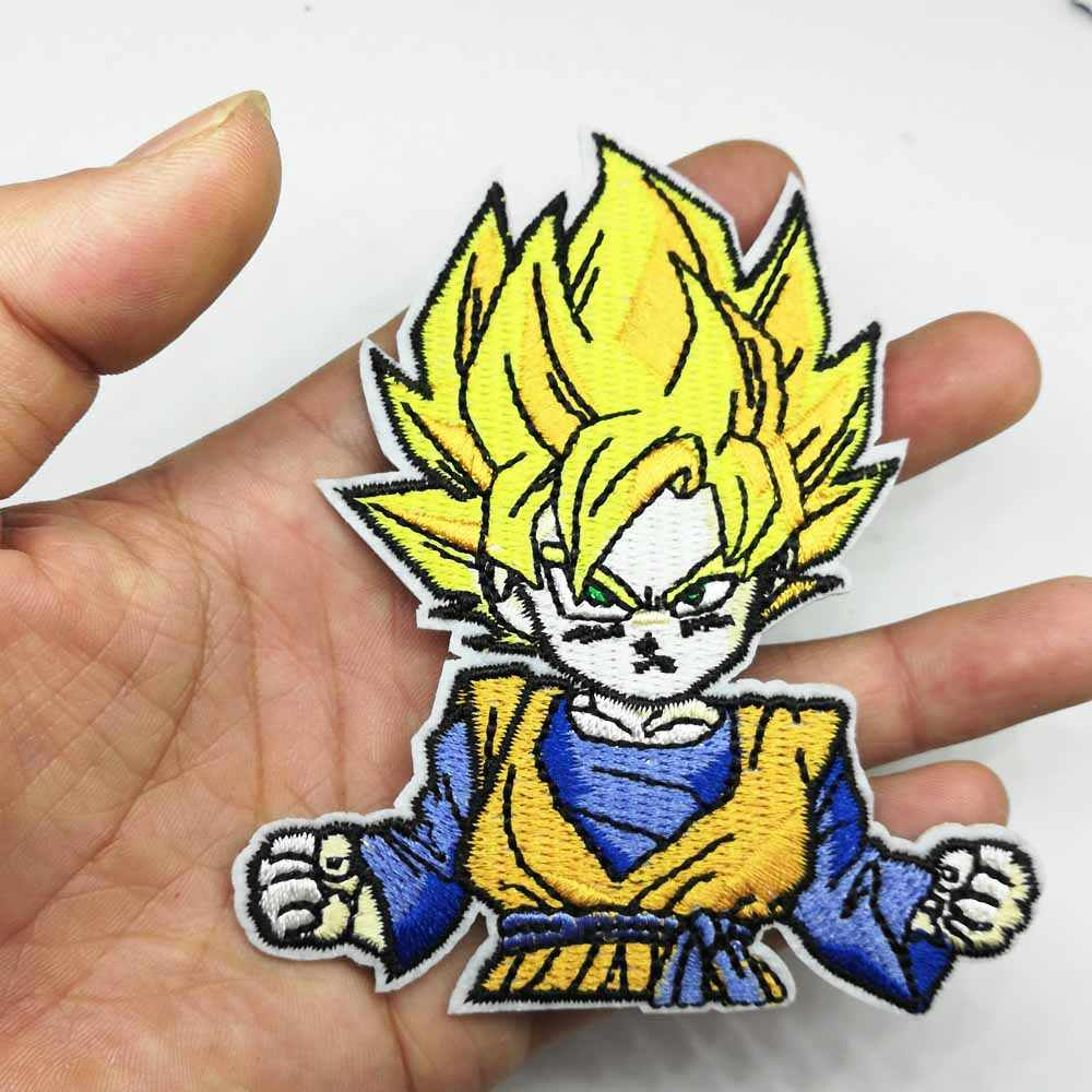 Rocket Snake Finker Anime Dragon Ball Goku Patches Iron On Embroidered Clothes Patches For Clothing Stickers Garment Wholesale