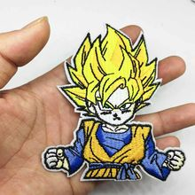 Autocollants serpent fusée Goku Anime Dragon Ball | Patchs brodés sur vêtements, vente en gros(China)