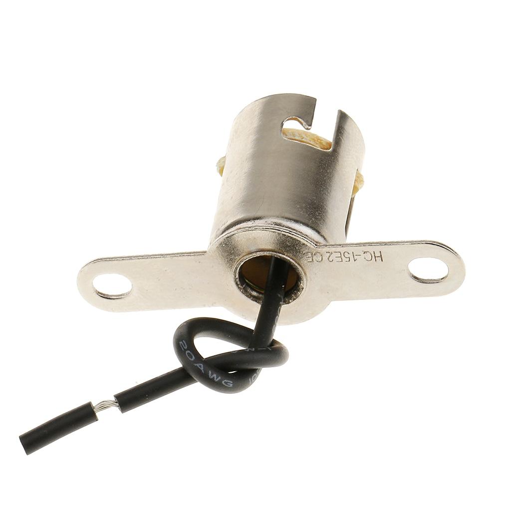 BA15S Light Bulb Socket Holder with Cable for Car Boat Motor Home Van Truck LED
