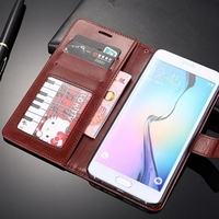 Retro Wallet Stand Flip Leather Case For Samsung Galaxy S6 Edge+ S6 Edge Plus G928A G928F G928V Case Cover With Card Slot