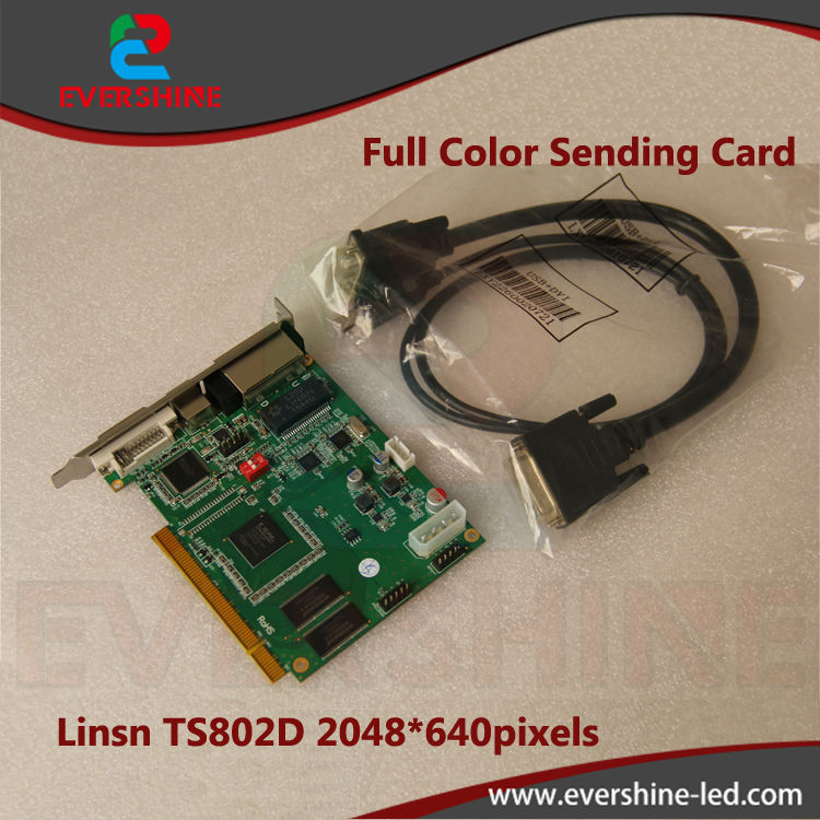 все цены на Linsn ts802d full color led display sending card,rgb synchronous vedio sending card for led display screen онлайн