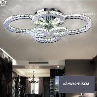 L63 * W40 * H15CM סלון אורות תקרת crystal led מנורת מסעדה המודרנית מינימליסטי חדר השינה מנורות