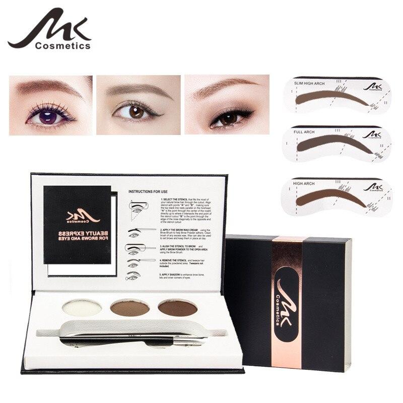 Mk 3 Color Eyebrow Powder Palette Cosmetic Brand Eye Brow Enhancer