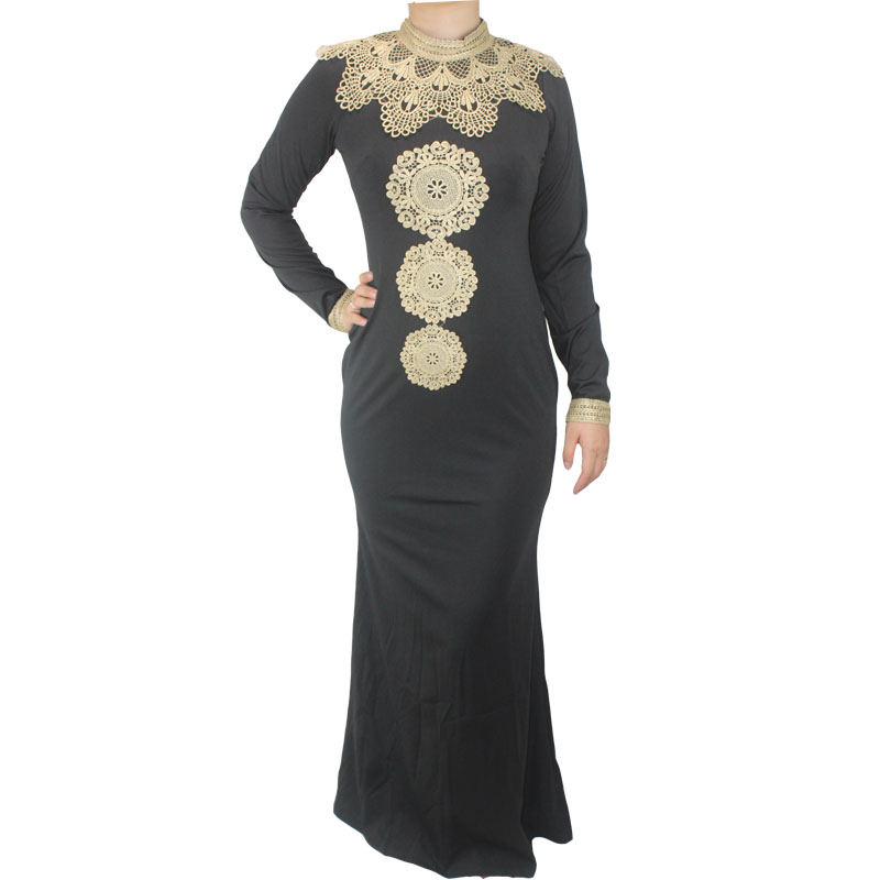 dddc4c55e86e5 US $16.99 |Free shipping African Fashion Design Hight Collar Embroidery  Lady Traditional Maxi Fabric Dashiki Dress For Women(GL02#)-in Africa  Clothing ...