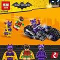 Lepin 07058 New Genuine Série de Filmes do Batman A Catwoman Motocicleta Perseguição Definir Blocos de Construção de Tijolos Brinquedos Educativos