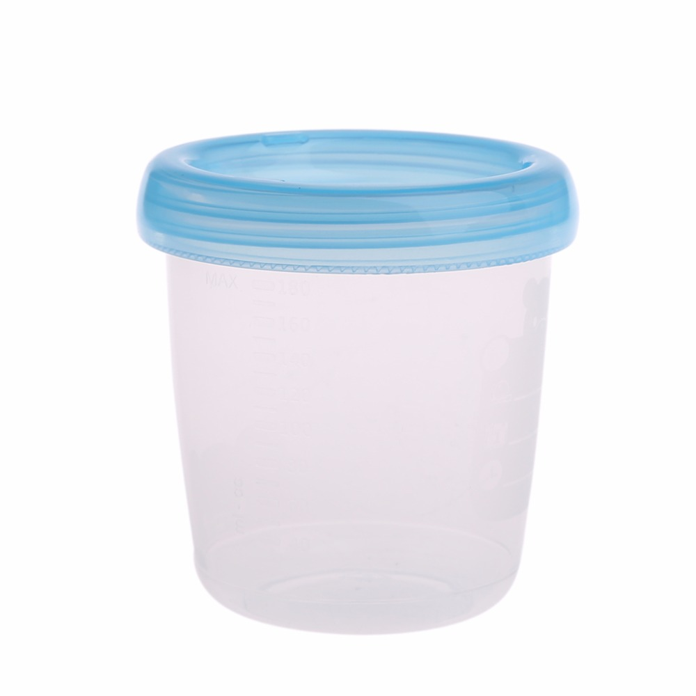 1Pc 180ML Collection Neck Wide Feeding Fresh Cup Bear Breast Milk Storage Bottle Cup New