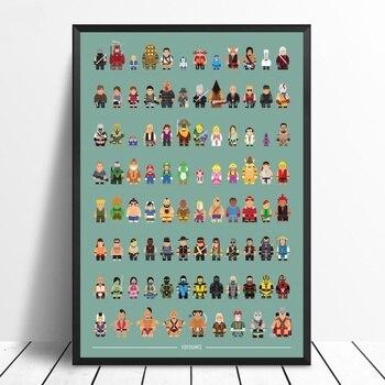 Cartel minimalista de colección de videojuegos, lienzo impreso, arte de pared, decoración del hogar, póster de regalo