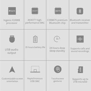 Image 2 - FiiO M5 AK4377 32bit/384 kHz DAC مرحبا الدقة بلوتوث شاشة تعمل باللمس MP3 مشغل موسيقى مع aptX/LDAC ، USB الصوت والمكالمات الدعم