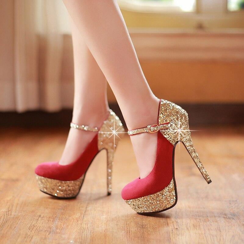 Parti Chaussures Nouveau Rouge Glitter forme En Couleurs Hauts 2019 Nubuck red Bas De Plate Cuir Femmes Mode Talons À blue Pompes 3 Black 5FYxfw05