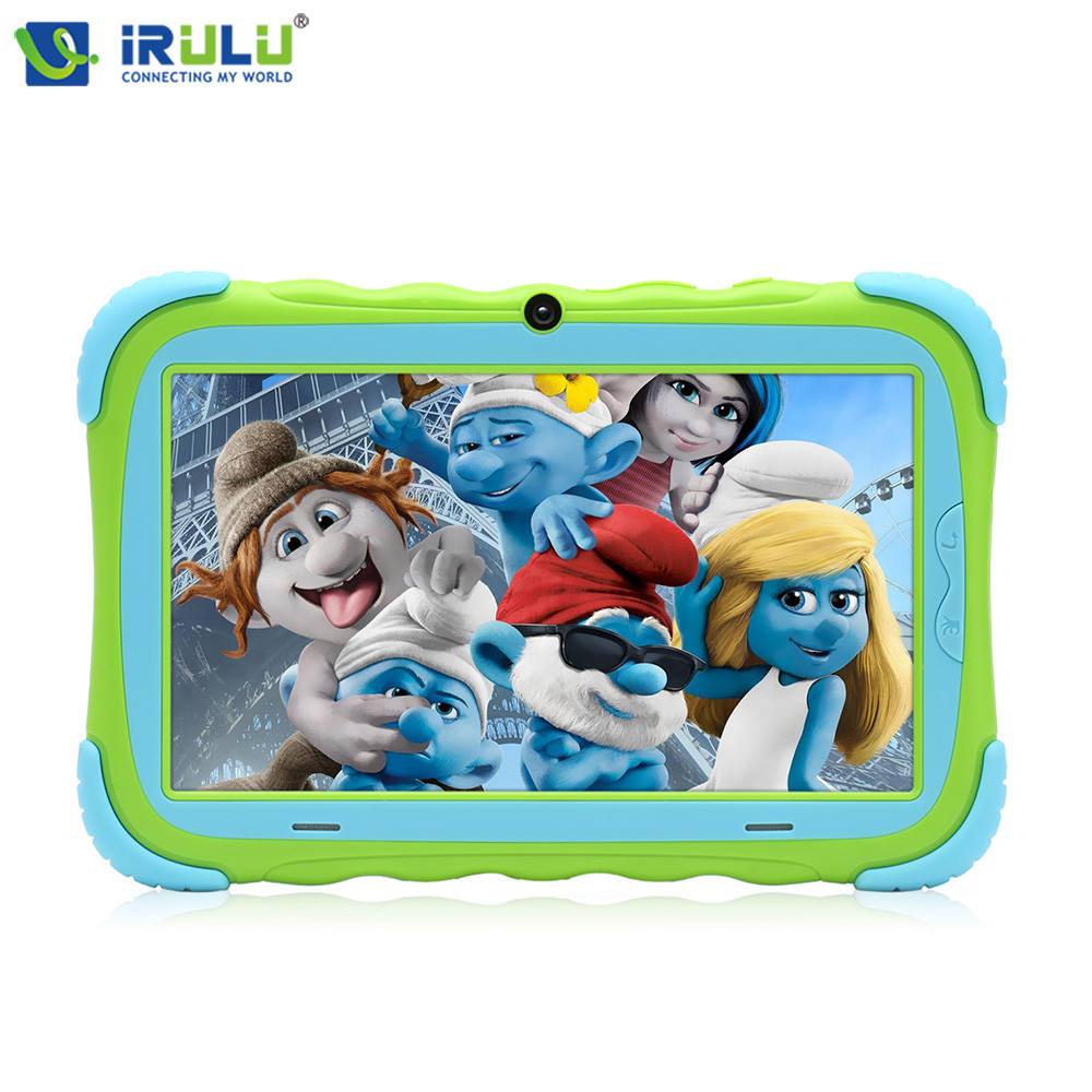 New iRULU Y5 7 Tablet PC IPS Screen 1024 600 For Children Quad Core Dual Cams