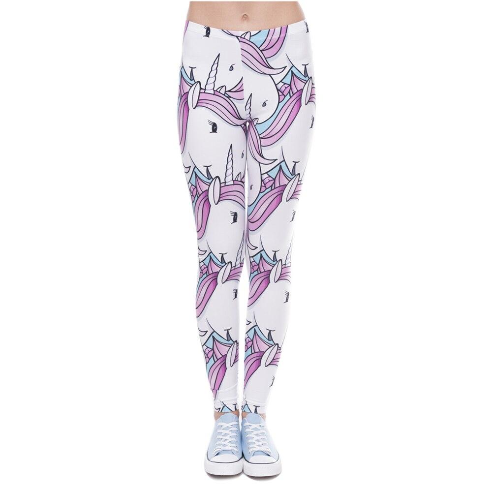 Hot Sale 3D Print Unicorns White Leggings Women Causal Jeggings Sexy Leggins Tayt Fitness Legging Calzas Mujer Soft Legins Girls