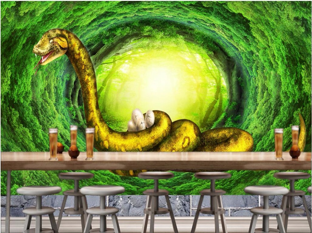 3d papel pintado personalizado foto mural bosque original for Papel pintado personalizado