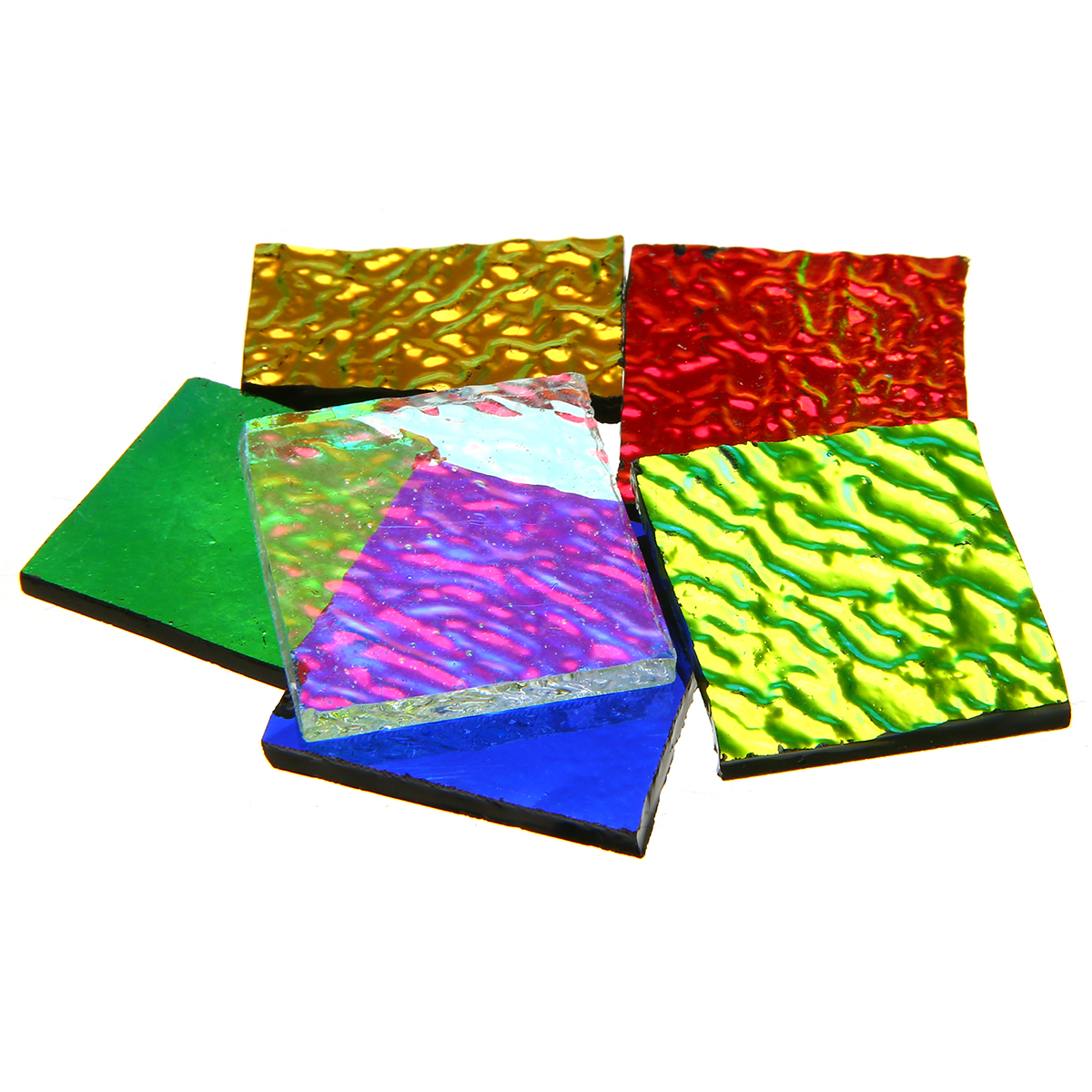 LOSCATO New 1 bag COE90 Dichroic Glass Mix Color /& Shapes Fusing in Glass Microwave Kiln