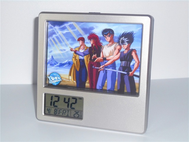 New Yuyu Hakusho Creative Digital Alarm Clock Multi Function Desk