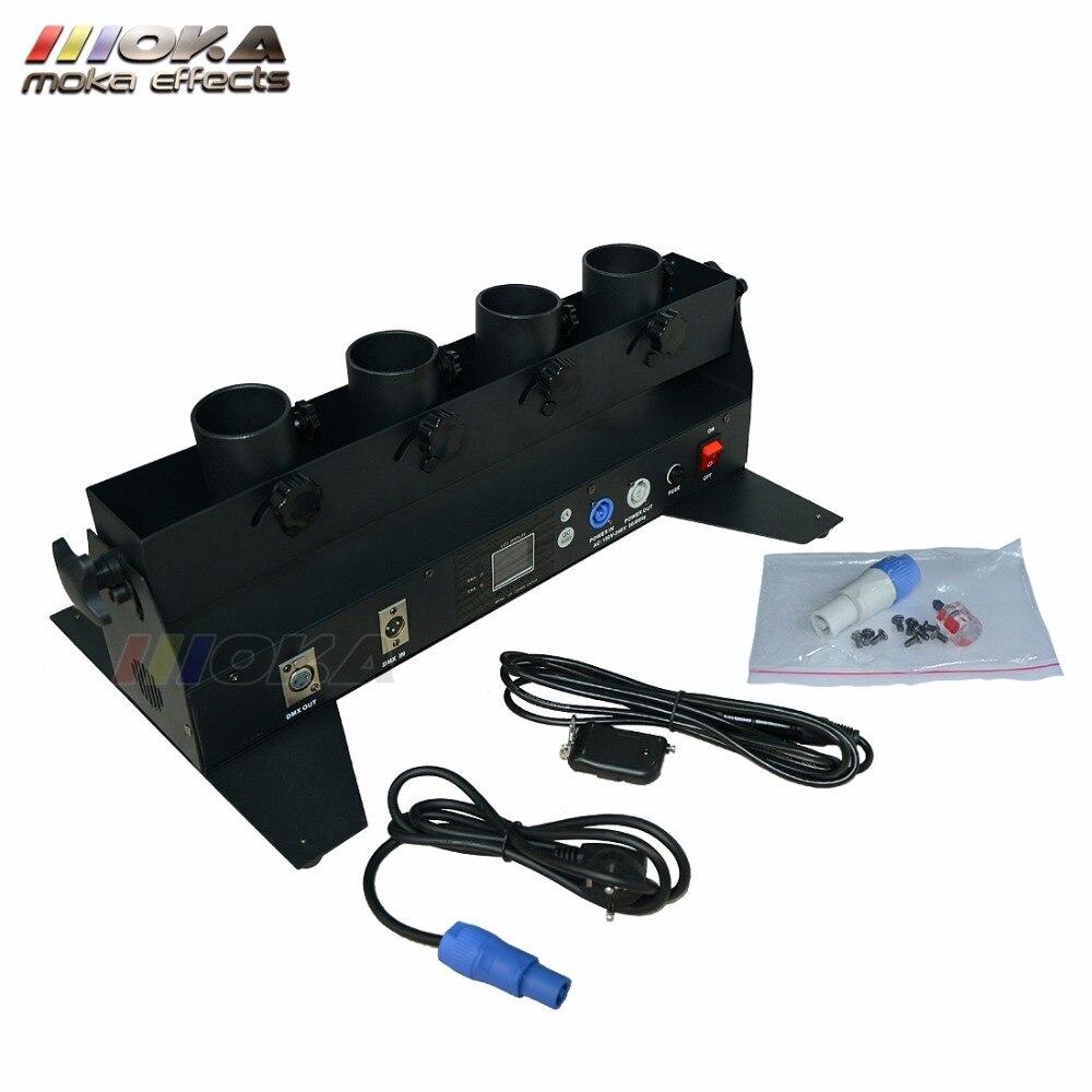 Wedding confetti machine Special Effect function 4 Head Confetti  Launcher DMX Confetti Shooter Machine