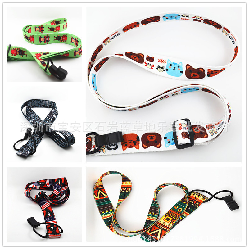 P&P Ukulele Clip On Adjustable Cartoon Ukelele Strap Neck Sling Soft Cotton Soft Strap Belt Straps Rope New Shop Promotion