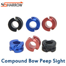 1pc High Precision 1/8 3/16 Peep Sight Compound Bow Sight Aluminum Alloy Aiming Scope For Shooting Archery Hunting Accessories archery cable slide bow string separator aluminum metal d loop 1 8 3 16 peep sight set compound bow outdoor shooting accessories