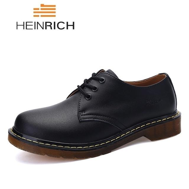 HEINRICH ใหม่ผู้ชายสบายๆรองเท้าหนัง Dr Martins รองเท้าบู๊ตทำงานรองเท้าแฟชั่นฤดูใบไม้ร่วงชายรองเท้า Bota Masculina couro