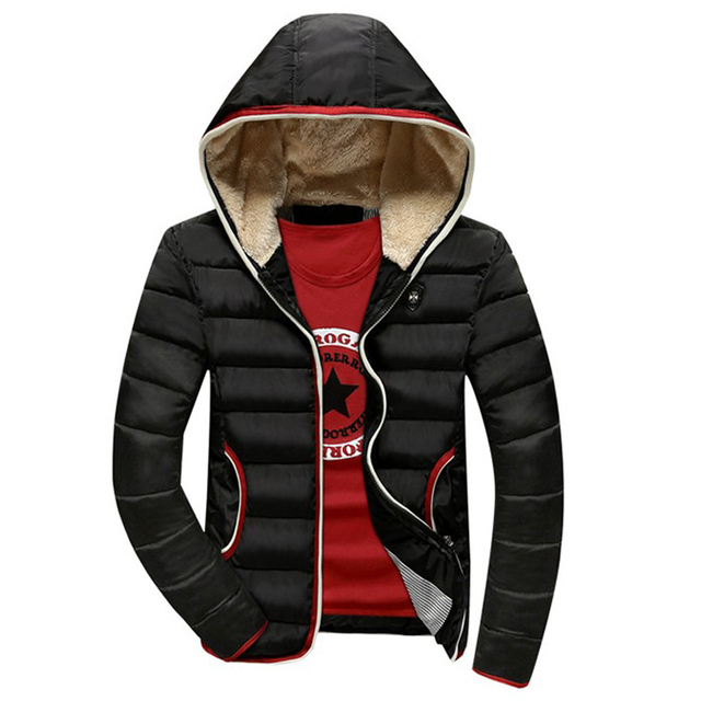 Brand New Jacket Men Warm cotton coat mens winter casual hooded jackets mens Outwear thick Parka Plus size XXXL Coats