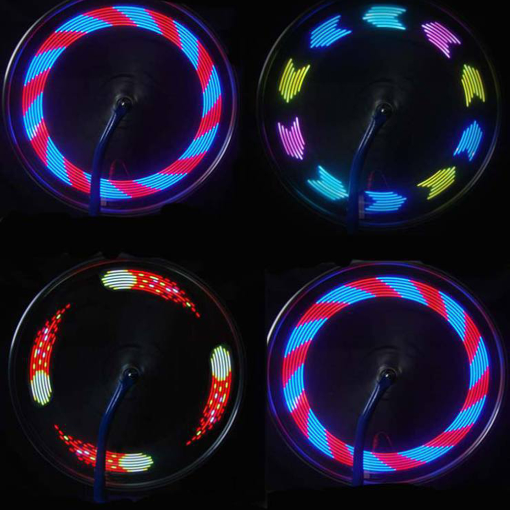 14 LED Cycling Bicycle Bike Wheel Signal Tire tyre Spoke Light 30 Changes Bike Light Lamp with Usb Rechargeable Battery
