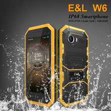 Original E&L W6 Smartphone Waterproof Dustproof Shockproof Phone Ip68 Dual Sim Mobile Phone Android 4G Lte Unlocked Cell Phones