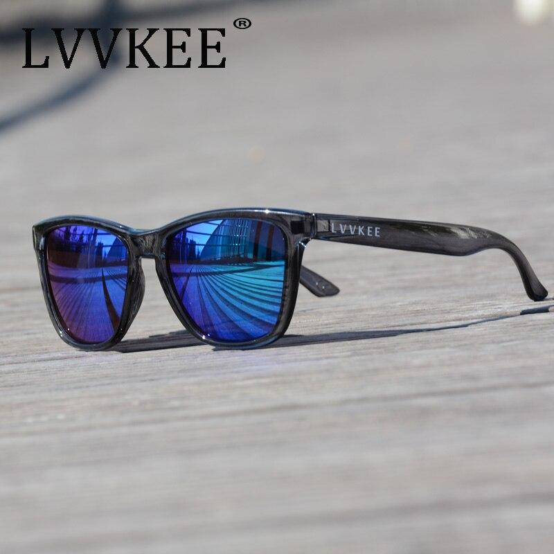 LVVKEE New Men women Sport Eyewear Brand Designer Driving Sunglasses Oculos De Sol Reflective Coating UV400 With Case male