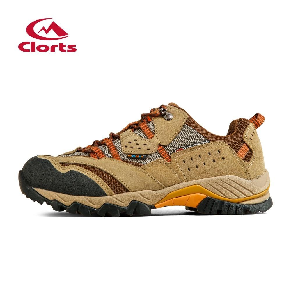 Clorts New Men Hiking Sneakers 2017 man Cow Suede Low Cut Athletic Sport Shoes scarpe trekking uomo zapatillas trekking hombre hogan scarpe uomo