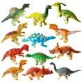12 PÇS/SET Misturado Tamanho Pequeno Dinossauro Jurassic Park dinossauro mundo PVC Modelo de Simulação brinquedos