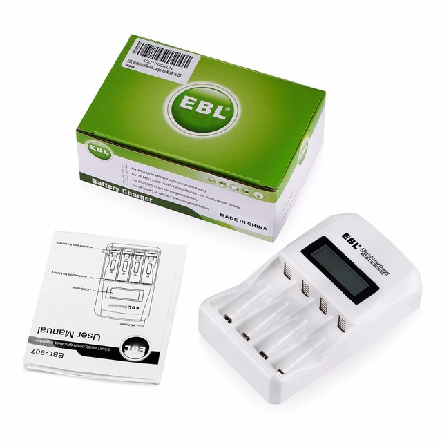 EBL Individual Smart AA AAA Rechargeable Battery Charger for Ni-MH Ni-CD Battery Replacement