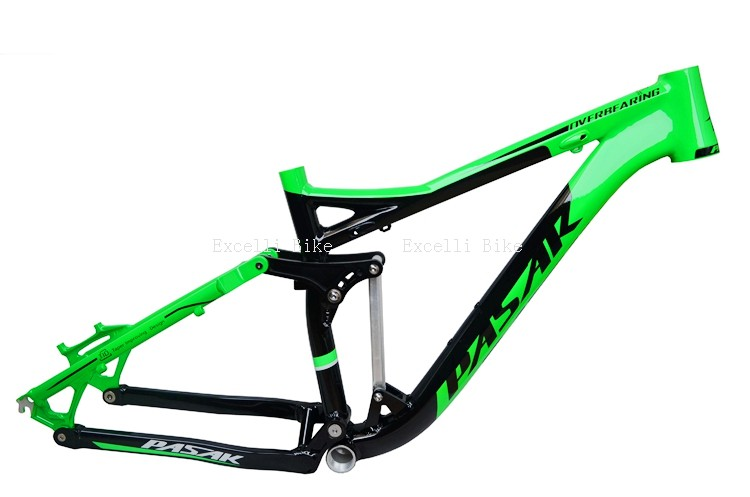7005 Aluminum Alloy Cycling Frame Soft-tail Frame Full Suspension Downhill Mountain Bike26 27.5 Frame For Disc Oil Brake for 21 speeds24