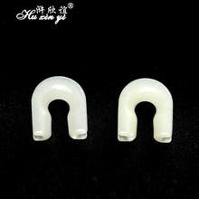 HXY 30PCS Non injury line luminous U type anti winding rotary connector fishing gear accessories