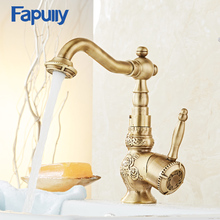 Fapully Bathroom Faucet Water Tap Brass Single Handle Hot And Clod Sink Mixer