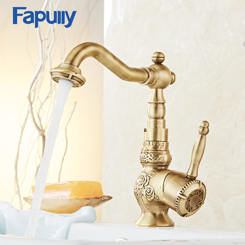 Fapully Bathroom Faucet Water Tap Brass Single Handle Hot And Clod Water basin Faucet Mixer micoe hot and cold water basin faucet mixer single handle single hole modern style chrome tap square multi function m hc203