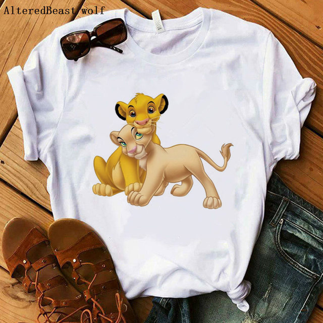 The Lion King Cartoon Funny Short T Shirt 2