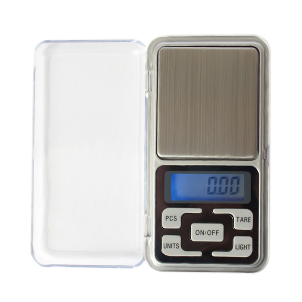 Digital Pocket Scale Portable LCD Electronic Jewelry Scale Gold Diamond Herb Balance Weight Weighting Scale 200x0.01g 500x0.1g