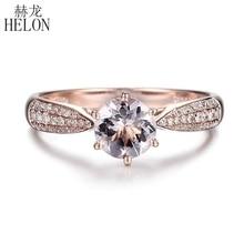 Кольцо из розового золота с бриллиантами, 6 мм, 0,59 карат