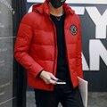 M-3XL 4 cores Inverno 2016 90% de Pato Branco Para Baixo Jaqueta Homens Jaqueta de Inverno dos homens com capuz Slim Fit Mens Jaquetas E casacos