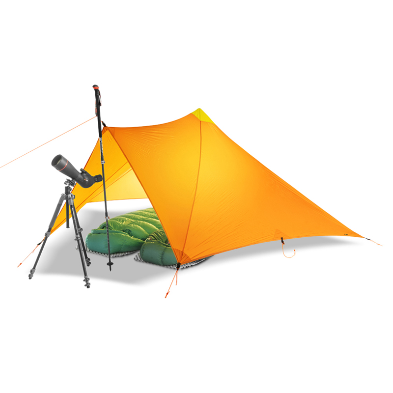 TrailStar Outdoor Ultralight 1-2 Person 15D Nylon Sides Silicon Pyramid shelter tent for hiking camping