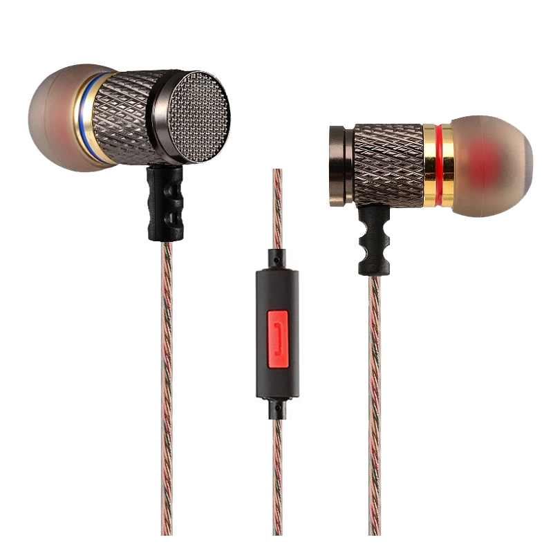 Original KZ ED Gold Plated Noise Isolating HD HiFi Earphone Headphones Super Bass Headsets Earbuds for