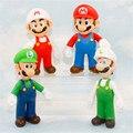 HOT 12 cm Super mario kawaii anime figuras funko pop juguetes niños mario y luigi mario luigi bros juego juguetes brinquedos figura de juguete